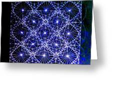 Space Time At Planck Length Vibrating At Speed Of Light Due To Heisenberg Uncertainty Principle Greeting Card