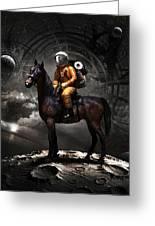 Space Tourist Greeting Card