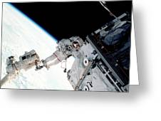 Space Walk On The Iss Greeting Card