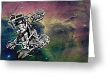Space Walk Pod Greeting Card