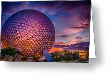Spaceship Earth Glow Greeting Card