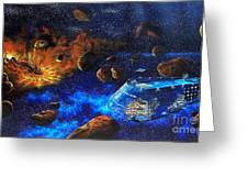Spaceship Titanic Greeting Card by Murphy Elliott