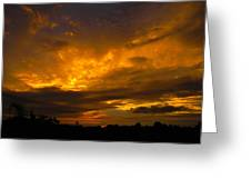 Spacey Sunset Greeting Card