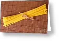 Spaghetti Italian Pasta Greeting Card by Monika Wisniewska