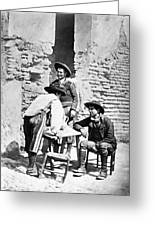 Spain Cowboys, C1875 Greeting Card
