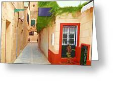 Spanish Alleyway Greeting Card
