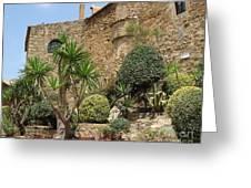 Spanish Church Garden Greeting Card