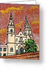 Spanish Church Greeting Card
