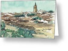 Spanish Church Tower Greeting Card