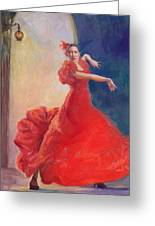 Spanish Flame Greeting Card by Gwen Carroll