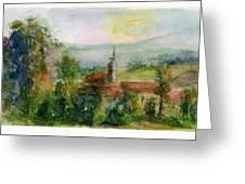Spanish Landscape Greeting Card