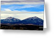 Spanish Peaks Magnificence Greeting Card