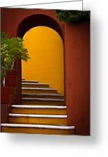 Spanish Stairway Greeting Card