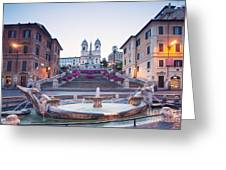 Spanish Steps Famous Stairway Rome Italy Greeting Card