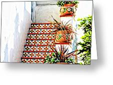Spanish Tiles Greeting Card