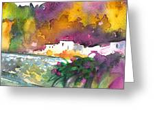 Spanish Village By The River 02 Greeting Card