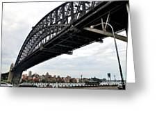 Spanning Sydney Harbour Greeting Card by Kaye Menner