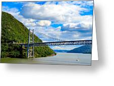 Spanning The Hudson River Greeting Card
