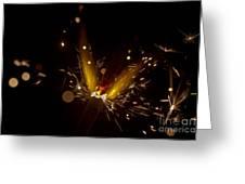 Sparkler Macro Greeting Card