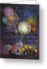 Sparklers Greeting Card by Cynthia Ring