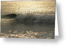 Sparkling Sea In Hunting Island Dawn Greeting Card