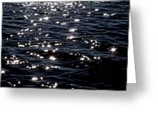 Sparkling Waters At Midnight Greeting Card