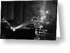 Sparks Bw Greeting Card