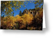 Spearfish Canyon In Autumn Color Greeting Card