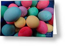 Speckled Easter Eggs Greeting Card