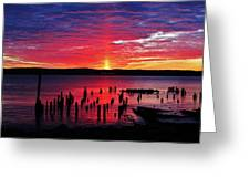 Spectacular Hudson Sunrise Greeting Card