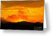 Spectacular Nevada Sunset  Greeting Card