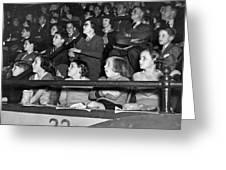 Spectators At The Circus Greeting Card
