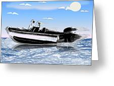 Speed Boating Greeting Card