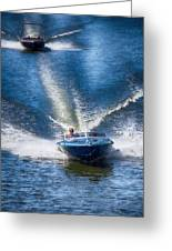 Speed On The Water Greeting Card