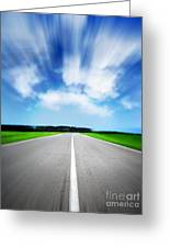 Speed Sky Greeting Card by Boon Mee