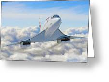 Speeding Above The Clouds Greeting Card by Dale Jackson