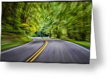 Speeding Through The Forest E42 Greeting Card