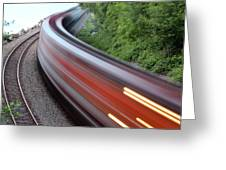Speeding Train Greeting Card
