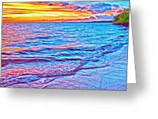 Spencer Beach Sunset Greeting Card