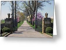 Spendthrift Farm Entrance Greeting Card