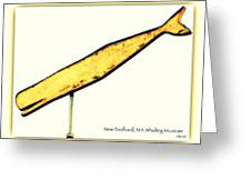 Sperm Whale Weathervane  Greeting Card
