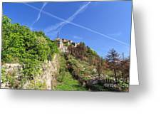 Sperone Fortress In Genova Greeting Card