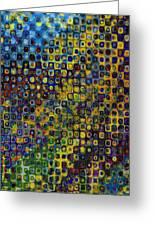 Spex Pseudo Abstract Art Greeting Card