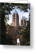 Speyer Dom Spires Greeting Card