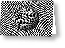 Sphere Abstract Pinch Greeting Card