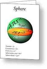 Sphere Equations Maths Poster White Greeting Card
