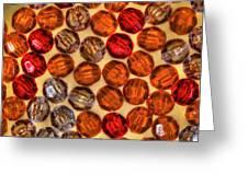 Spheres Of Beads Greeting Card