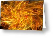 Spherical Golden Stars Greeting Card