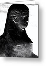 Sphinx Statue Torso Black And White Usa Greeting Card