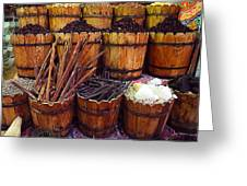 Spices In The Egyptian Market Greeting Card